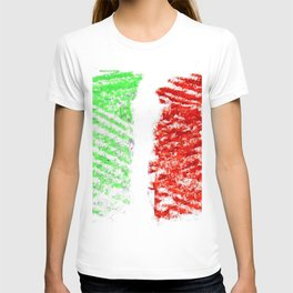 flag of Italia chalk 2- Italy,Italia,Italian,Latine,Roma,venezia,venice,mediterreanean,Genoa,firenze T-shirt