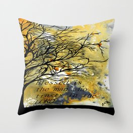 Blessed Is The Man Who Trusts In The Lord Throw Pillow