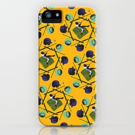 pop pattern_baseball iPhone Case