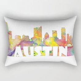 Austin Texas Skyline MCLR 2 Rectangular Pillow