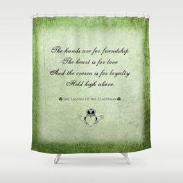 Claddagh ~ Love, Loyality, and Friendship Shower Curtain