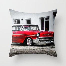 1957 Bel Air Throw Pillow
