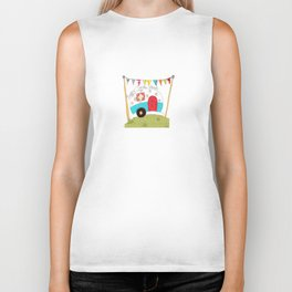 Travel Trailer - Happy Trails Ahead Biker Tank