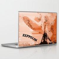 led zeppelin Laptop & iPad Skins featuring Zeppelin by Avigur