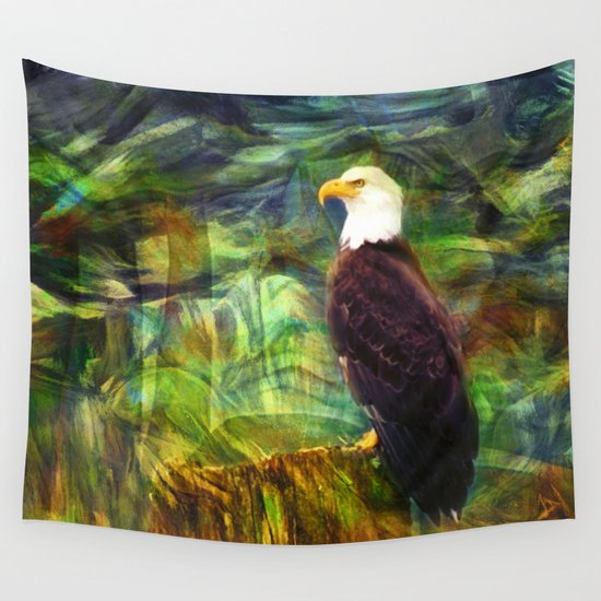 West Coast Eagle Wall Tapestry