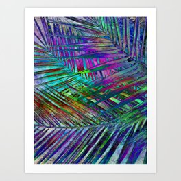 Multicolor Palm Leaves 2 Art Print