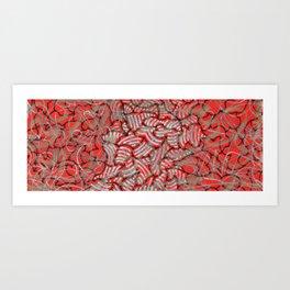 Amalgamation of red Art Print