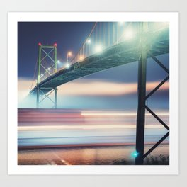 Underneath The Bridge Art Print