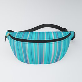 Simple Pastel Teal Vertical Lines Fanny Pack