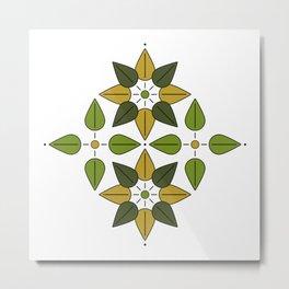 Aoba, Green Leaves Metal Print