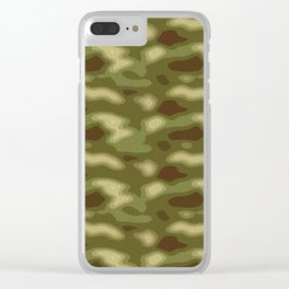 Camo pattern Clear iPhone Case