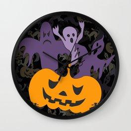 Halloween poster Wall Clock