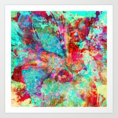 abstract orchid Art Print