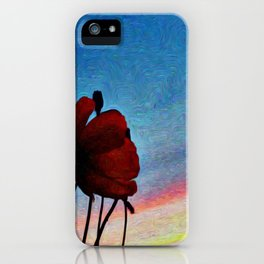 Poppy Sunset iPhone Case