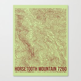 Horsetooth Topography USGS Colors Canvas Print