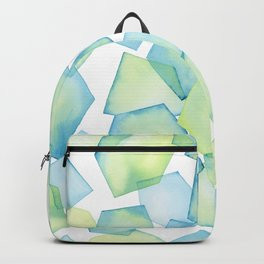 Sea Green Beach Glass Painting Backpack