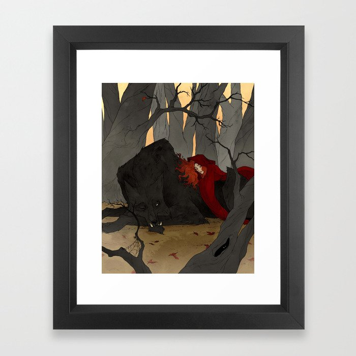 The Big Bad Wolf Framed Art Print