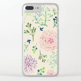 Pastels x Blossoms Clear iPhone Case