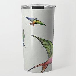 Swallows in Flight Travel Mug