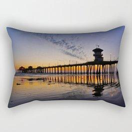 Sunset Huntington Beach Pier      10 / 22/ 13 Rectangular Pillow