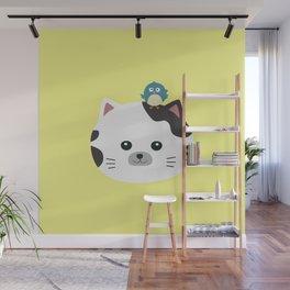 Bird and Cat best Friends T-Shirt Db0uc Wall Mural