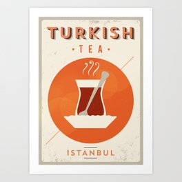 Vintage Turkish Tea Poster Art Print