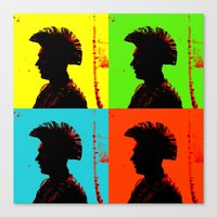 popart Canvas Prints featuring Popart punk by Kathleen Schulze