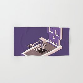 Familiar Face — isometric pixel artwork Hand & Bath Towel