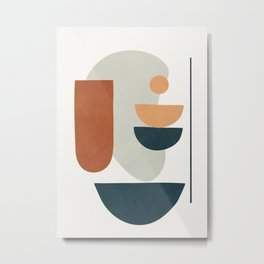 Minimal Shapes No.35 Metal Print