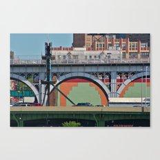 New York Under the Aztec Bridge Canvas Print