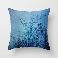 heaven Throw Pillows featuring Heaven by The Last Sparrow