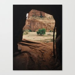 Canyon De Chelly Tunnel Canvas Print