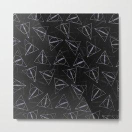 deathly hollow pattern Metal Print
