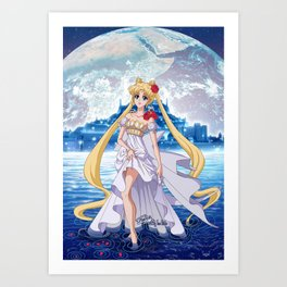 Sailor Moon Crystal Princess Serenity Art Print