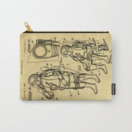 Mobile Space Suit Support Patent Drawing From 1956 Carry-All Pouch