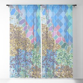 INSPIRED BY GAUDI Sheer Curtain