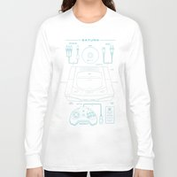 saturn Long Sleeve T-shirts featuring Saturn by MeleeNinja