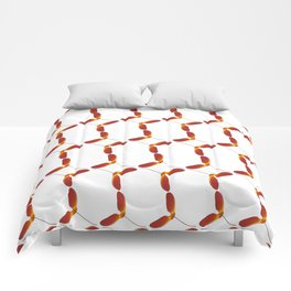 Red Japanese Maple Tree Samara Stitch Looking Pattern In Alternate Orientations Comforters