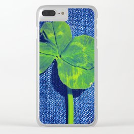 Lucky four leaf clover Clear iPhone Case