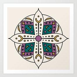 Bright Moon Mandala Art Print
