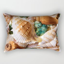 Seashells background Rectangular Pillow