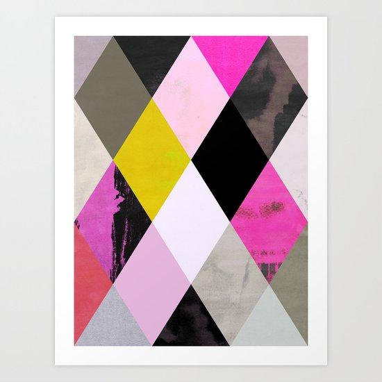 colour + pattern 15 Art Print