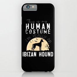 Halloween Human Costume Ibizan Hound Creepy iPhone Case