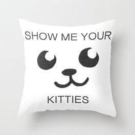 Show Me Your Tities Throw Pillow
