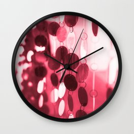 GLAM CIRCLES #Red #1 Wall Clock