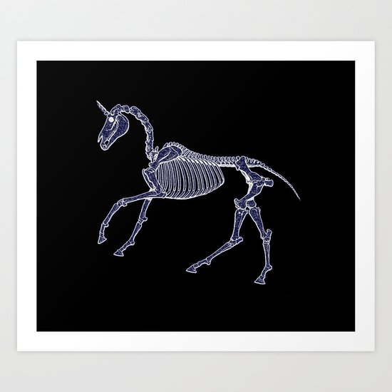 Unicorn Fossil Art Print