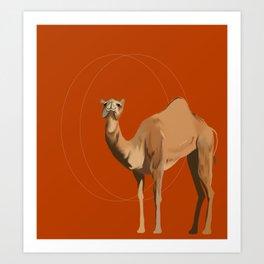 Camel Moon Art Print