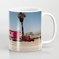 coke Mugs featuring Coke Truck by Alex