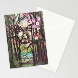 SPIRIT- Fantasy Art, Original Acrylic Painting. Stationery Cards