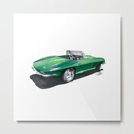 Corvette Stingray. Metal Print